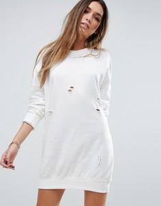 Oversize платье-свитшот Missguided - Кремовый