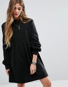 Свободное трикотажное платье Rokoko - Черный