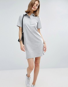 Однотонное платье-поло ASOS - Серый