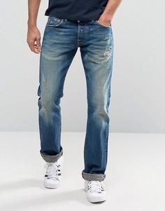 Узкие джинсы с кромкой Edwin ED-71 Rainbow - Синий