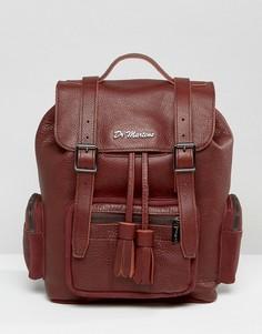 Мешковатый кожаный рюкзак Dr Martens - Коричневый