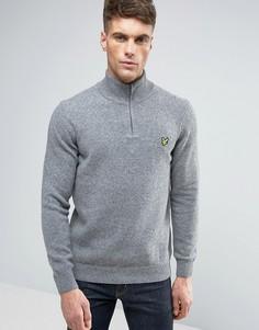 Серый меланжевый трикотажный джемпер с логотипом Lyle & Scott - Серый