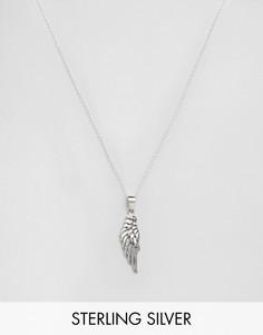 Серебряное ожерелье с подвеской в форме крыла Kingsley Ryan - Серебряный