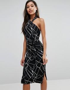 Платье-халтер миди Lavish Alice - Мульти