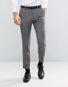 Узкие брюки из твида Burton Menswear - Серый