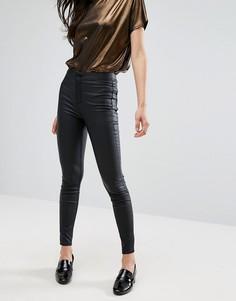 Супероблегающие джинсы с покрытием New Look - Черный