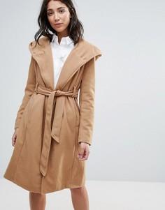 Пальто с поясом Brave Soul - Бежевый