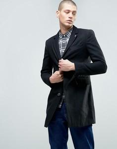 Длинный пиджак на пуговицах с добавлением шерсти Farah - Серый