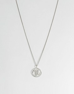 Fashionology Sterling Silver Scorpio Zodiac Necklace - Серебряный