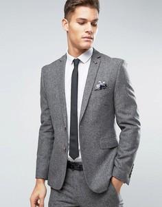 Узкий твидовый пиджак Burton Menswear - Серый