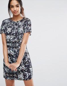 Платье-туника с абстрактным принтом Sugarhill Boutique - Мульти