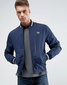 Сине-белая куртка-пилот Fred Perry Laurel Wreath Made In England - Темно-синий