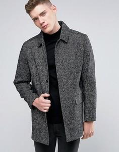 Пальто из шерстяной саржи Native Youth - Черный