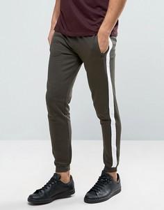 Спортивные штаны с широкими полосками и карманом на молнии Brave Soul - Зеленый