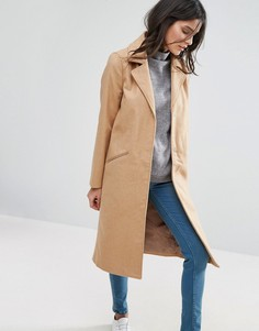 Длинное пальто Brave Soul - Бежевый