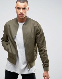 Хлопковая куртка-пилот цвета хаки New Look - Зеленый