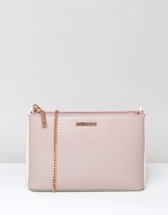Сумка через плечо с золотисто-розовой цепочкой Ted Baker - Розовый