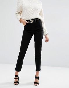 Черные джинсы слим с завышенной талией ASOS FARLEIGH - Черный
