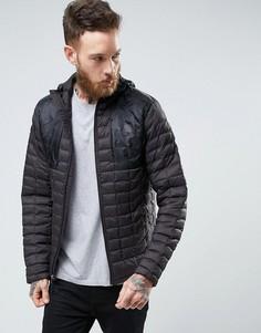 Стеганая черная куртка с капюшоном The North Face Thermoball Plus - Черный