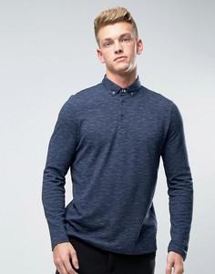 Поло с длинными рукавами Burton Menswear - Темно-синий