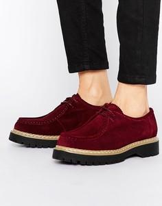 Замшевые туфли на шнуровке Bronx - Красный