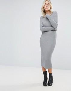 Облегающее платье миди QED London - Серый