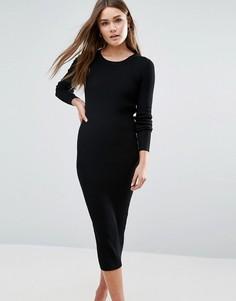 Облегающее платье миди QED London - Черный