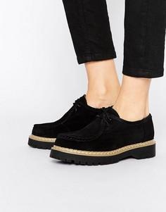 Замшевые туфли на шнуровке Bronx - Черный