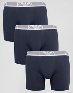 2 удлиненных боксеров-брифов Emporio Armani - Темно-синий