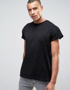 Черная футболка с принтом New Look - Черный