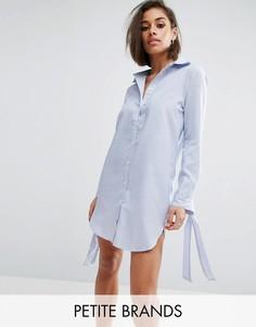 Платье-рубашка в полоску Boohoo Petite - Синий