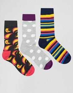 3 пары носков HS by Happy Socks - Мульти