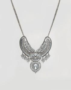 Массивное броское ожерелье с камнями ALDO - Серебряный