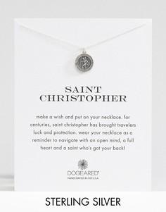 Серебряное ожерелье с подвеской Св. Христофор Dogeared - Серебряный