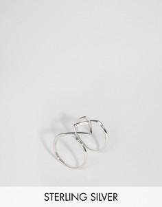 Серебряное кольцо с массивной геометрической отделкой Lavish Alice - Серебряный