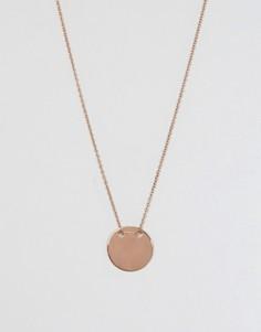 Серебряное ожерелье с золотисто-розовым покрытием и подвеской Lavish Alice - Золотой