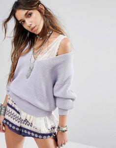 Пуловер Free People Allure - Фиолетовый