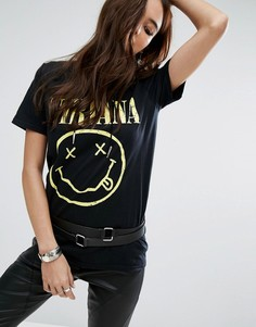 Футболка Nirvana Boohoo - Черный