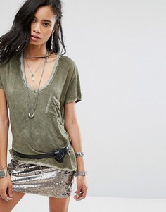 Футболка Free People Rising Sun - Зеленый