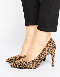 Туфли на каблуке с леопардовым принтом Pimkie - Коричневый