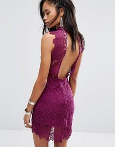 Облегающее платье-сорочка Free People Daydream - Фиолетовый