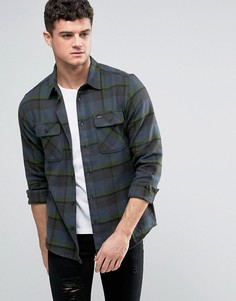 Фланелевая рубашка с карманами с клапанами RVCA - Темно-синий