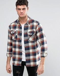 Фланелевая рубашка с карманами с клапанами RVCA - Красный