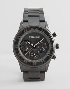 Черные часы-браслет Police Driver - Черный