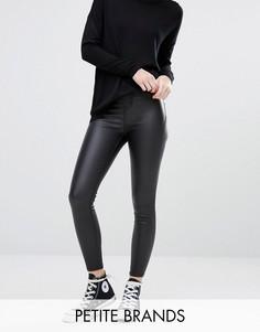 Супероблегающие джинсы с покрытием New Look Petite - Черный