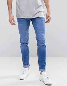 Стретчевые зауженные джинсы Celio - Синий