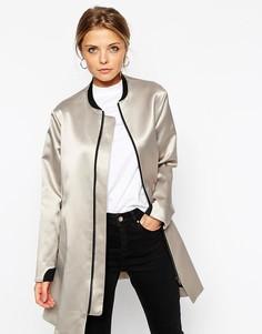 Пальто-трапеция ASOS - Stone