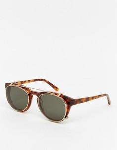 Черепаховые круглые солнцезащитные очки Han Kjobenhavn Timeless - Коричневый