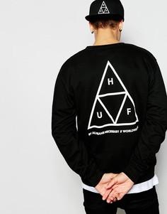 Свитшот с тремя треугольниками HUF - Черный