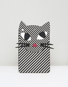 Полосатый чехол для iPad Mini в виде кошки Lulu Guinness - Мульти